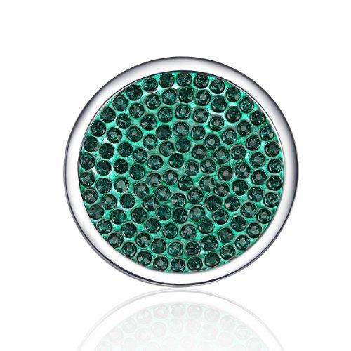 piè ce interchangeables pour interchangeables –  Collier pendentif –  Vert foncé  –  (Pendentif non inclus) TEJ 7414