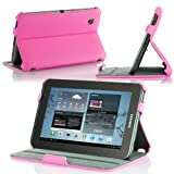 MoKo Slim-Fit Cover Case Folio for Samsung Galaxy Tab 2 7.0, MAGENTA (with Built-in Multi-Angle Stand)