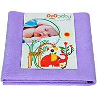 OYO BABY - 100% Waterproof Mattress Protector/16 Cups Water Absorbency/Hypoallergenic/Anti-slip/Crib Sheets/Pads/Absorbent Sheet/Diaper changing pad cover/mat (Large - 140cm X 100cm), Purple