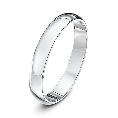 Theia Palladium 500, Super Heavy Weight, D Shape 6mm Wedding Ring