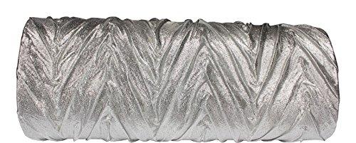 Schöne praktische Abendtasche MQ0969 LT.Silver