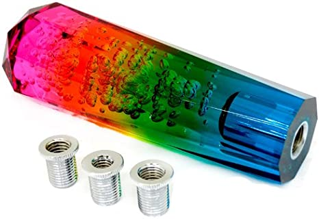 VIP JDM 150mm Manual Transmission Pink Diamond Crystal Bubble Drift Shift Knob