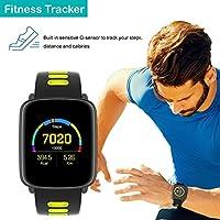 Willful Smartwatch con Pulsómetro,Impermeable IP68 Reloj Inteligente con Cronómetro, Monitor de sueño,Podómetro,Calendario,Control Remoto de ...