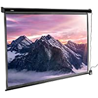 VonHaus 100 Inch Motorized Electric Projector Screen with...