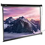 VonHaus 100-Inch Electric Motorised Projector Screen with Remote Control | 16:9 Aspect Ratio | 1.1 Screen Gain Rating – Home Cinema/Theatre | For Wall or Ceiling Mounting