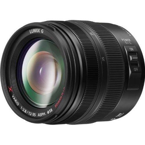 PANASONIC LUMIX G X VARIO LENS, 12-35MM, F2.8 ASPH., PROFESSIONAL MIRRORLESS MICRO FOUR THIRDS, POWER OPTICAL I.S. H-HS12035 (2012 Model - USA BLACK) Panasonic Lumix Dmc Series