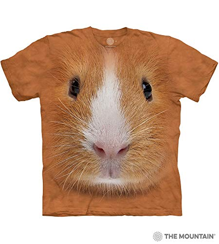 (The Mountain Guinea Pig Face Adult T-Shirt, Brown, Large)