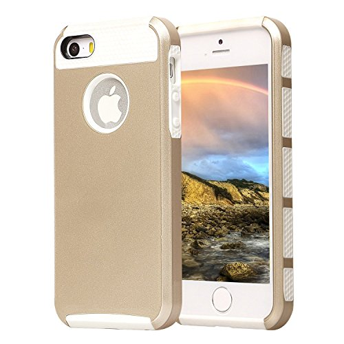 Shockproof Armor Case for Apple iPhone SE/5S/5 (White) - 8