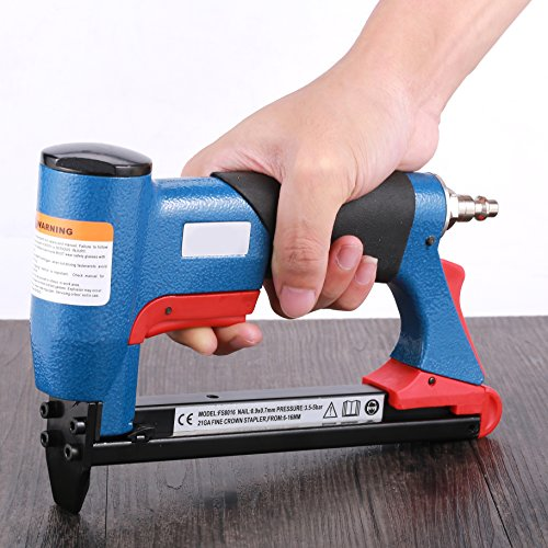 Air Nail Gun 18 Gauge Brad Nailer Pneumatic Nail Pull Gun 2 in 1 Multifunction 3/4 Inch to 2 Inch by BORNTUN