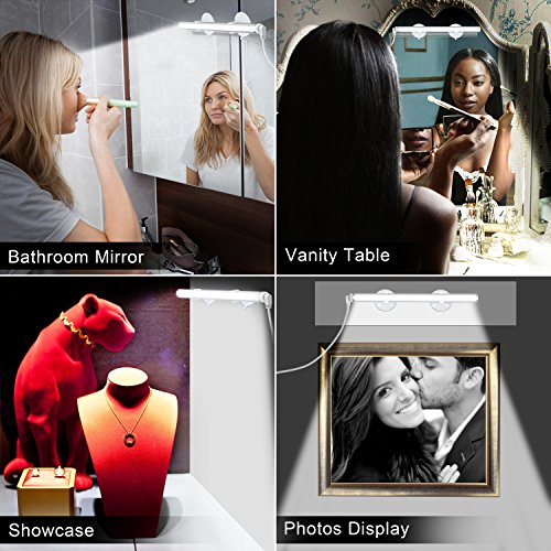 Emotionlite Vanity Light LED Make up Light Bathroom Vanity Mirror Light Portable Cosmetic Mirror Light Kit with 3-Level Brightness Dimmable, USB Makeup Light, Portable & Durable, White, 6000K by Emotionlite (Image #6)