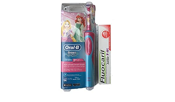 Oral-B Stages Power Cepillo de dientes Electrico para Ninos con Princesa de Disney + Pasta de Dientes Fluocaril Junior 7-12 anos: Amazon.es: Salud y cuidado ...