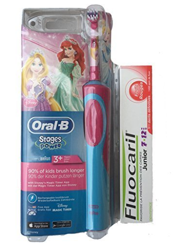 Oral-B Stages Power Cepillo de dientes Electrico para Ninos con Princesa de Disney +