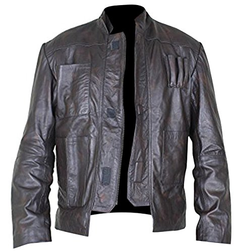 Star Wars Han Solo Harrison Ford Brown Leather Jacket