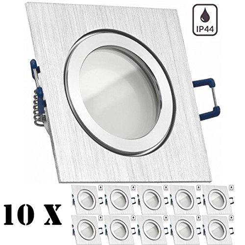 ... 5W   Warmweiss   120° Abstrahlwinkel   Feuchtraum / Badezimmer   35W  Ersatz   A+   LED Spot 5 Watt   Einbauleuchte Eckig: Amazon.de: Beleuchtung