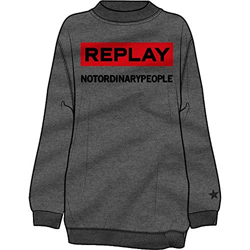 Melange Female Sweatshirts S Grey Hoodies W3049 And Replay 8AXqI48