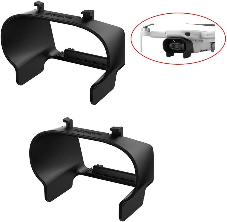 Yunhigh 2pcs Drone Lens Hood Sun Shade Gimbal Cover Camera Protector Guard Accessories for DJI Mavic Mini Black
