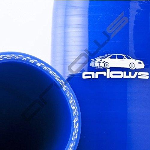 Azul Reductor arco Di/ámetro 70/mm a 63/mm Tubo de silicona 90//° Reductor