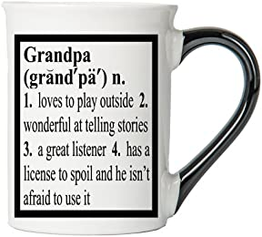 Grandpa Mug, Grandpa Coffee Cup, Ceramic Grandpa Mug, Father's Day Gift By Tumbleweed
