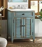 "26"" Cottage look Abbeville Bathroom Sink vanity - Blue Model CF-28883BU"