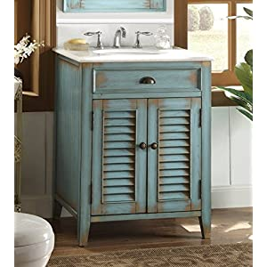 Benton Collection 26″ Cottage look Abbeville Bathroom Sink vanity – Blue Model CF-28883BU