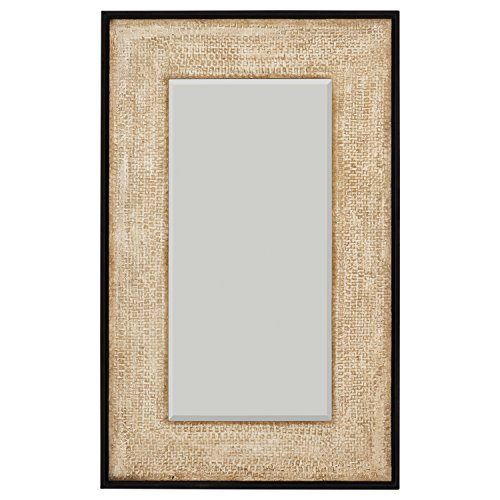Stone & Beam Rustic Woven Frame Mirror, 48
