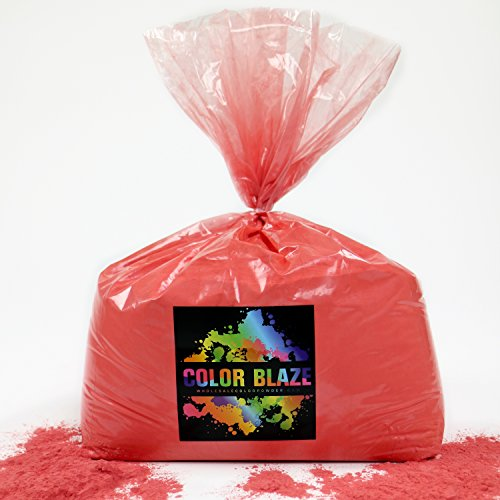 Color Powder Red 25lbs -Ideal for color run events,Holi Events, youth group color wars, and more! Blue, Orange, Yellow, Purple, Pink, Yellow and Teal Available