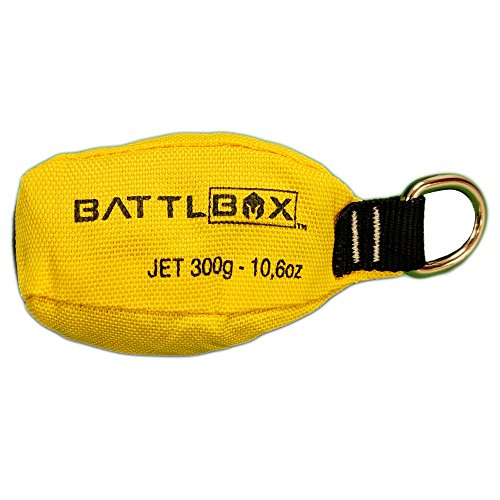 BATTLBOX Arborist Throw Weight-Throw Bag - 300g - Bright Yellow for High Visibility – Durable Two-Layer Construction – Aerodynamic and Streamlined for Increased Accuracy and Throw Distance by BATTLBOX