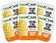 CAULIPOWER Linguine Cauliflower Pasta, Frozen (6 Pack), 8.8 ounce