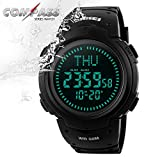Men Sports Watches waterproof Outdoor Military Watch EL Backlight Compass Countdown Wristwatches
