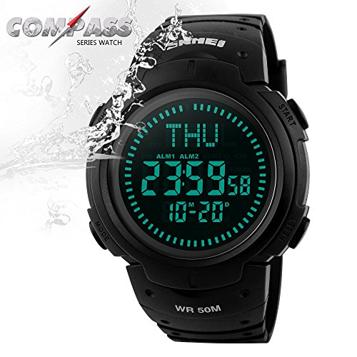 waterproof Military Backlight Countdown Wristwatches