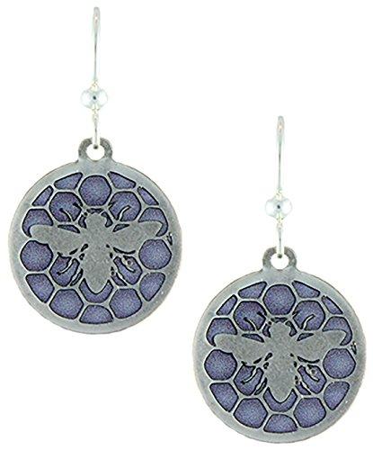 Earth Dreams- Royal Jelly Earrings w/o Beads (Silver/Purple)