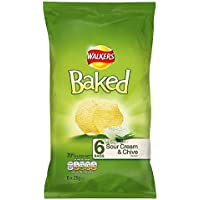 Walkers Baked Sour Cream & Chive 25g x - 6 per pack
