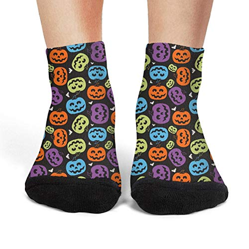 Halloween pumpkin faces Womens socks crew socks