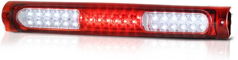Youxmoto Third Brake Light LED 3rd Brake Light Rear Brake Light Waterproof Cargo Light Fit for 1997-2003 Ford F150 2004 Ford F150 Heritage Chrome Housing Red Lens