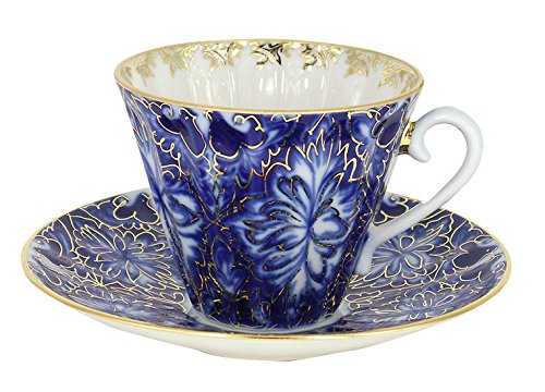 Lomonosov Porcelain Tea Set 2 pc Cup and Saucer Heathbirds 7.95 oz/235 ml