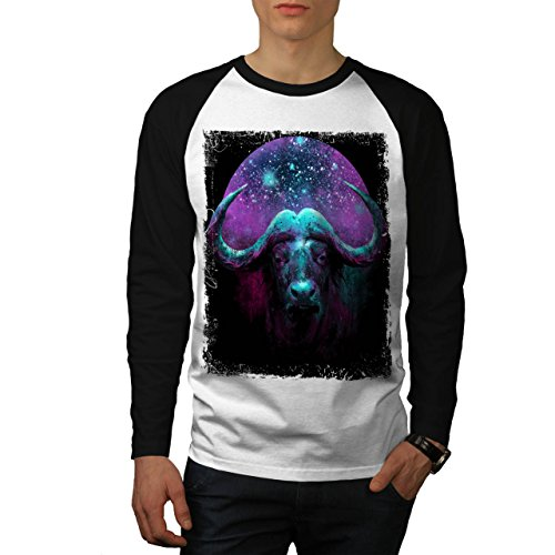 wild-buffalo-star-horn-beast-men-new-xl-baseball-ls-t-shirt-wellcoda