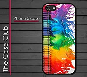 iPhone 5 Rubber Silicone Case - Colorful Crayons Melting Artwork Cool