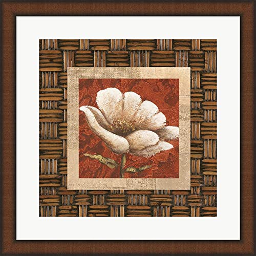 Plantation Themes B by Susan Davies Framed Art Print Wall Picture, Brown Teak Frame, 20 x 20 inches (Plantation Frame Teak)