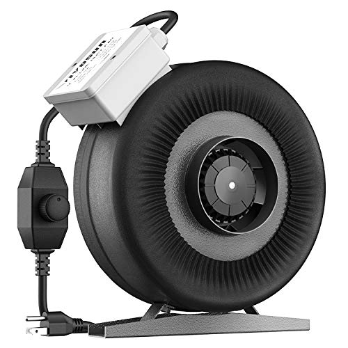- VIVOSUN 4 Inch 203 CFM Inline Duct Ventilation Fan with Variable Speed Controller