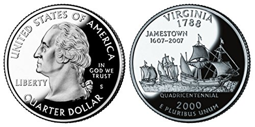 2000 S Virginia State Silver Proof Quarter PF1 US Mint