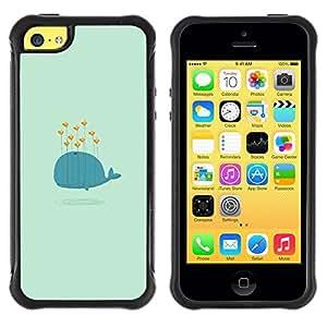 """Pulsar iFace Series Tpu silicona Carcasa Funda Case para Apple iPhone 5C , Avistamiento de corazón Besos azul de la historieta de San Valentín"""""""