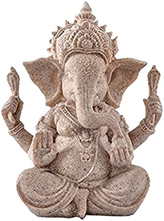PIXNOR Arenisca Ganesha Buddha elefante estatua escultura artículos figura
