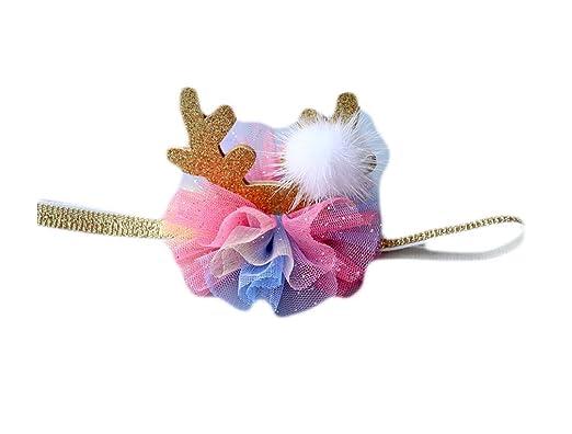 Good Night Baby Girls Boys Christmas Headbands Flower Bow Hair Bands