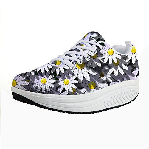 Slimming Stylish Casual Wedges Shoes DESIGNS Height Swing Daisy Women U Flats Increasing Platform Shoes FOR qnxfCwFEU