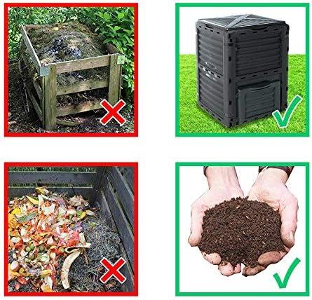 Best4Garden – Compostador, color verde jardín Compost Bin, 300 L ...