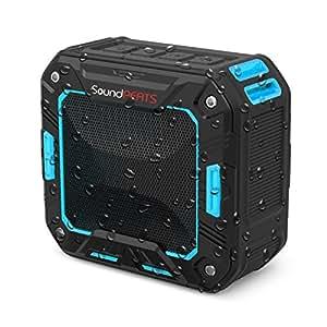 SoundPEATS Altavoz Bluetooth Portátil Impermeable, 5W de Potencia, Batería de 2000 mAh , Aporta Manos Libres para Ducha y Exterior, 10 Horas Larga Duración de La Batería-- (Azul)