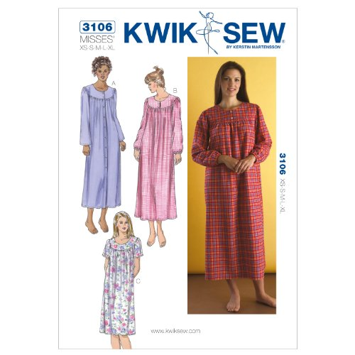 Kwik Sew K3106 Nightgowns Sewing Pattern, Size XS-S-M-L-XL by KWIK-SEW PATTERNS