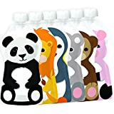 Best Spoon With Storage Pouches - Squooshi Reusable Food Pouch | Animal 6 Pack Review