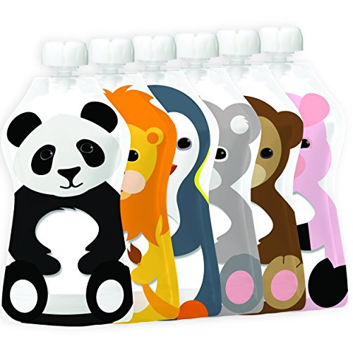 Squooshi Reusable Food Pouch | 6 Large 5 oz Pouches