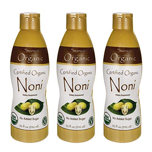 Swanson Certified Organic Noni 32 fl Ounce 1 qt 946 ml Liquid 3 Pack